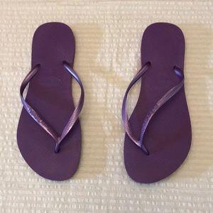 Havaianas Slim Size 41-42 purple flip flops. EUC.